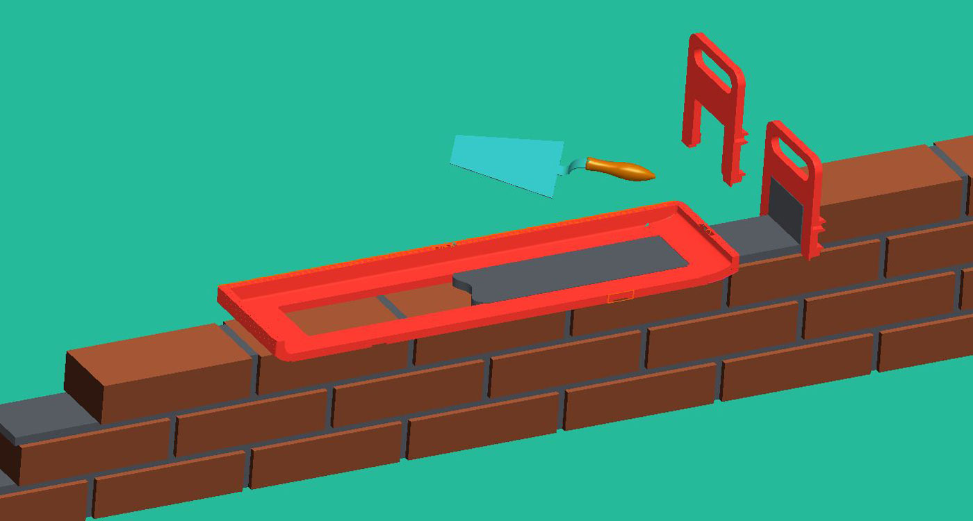 набор каменщика для быстрой кладки кирпича