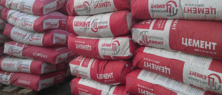 Хранение цемента в мешках